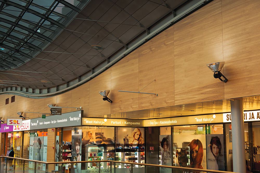 Iso-Omena Shopping Mall custom lighting replacement solution by Meltron