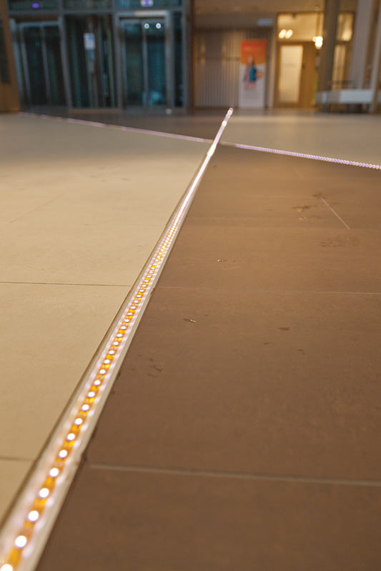 Plaza Business Park custom floor lighting by Meltron