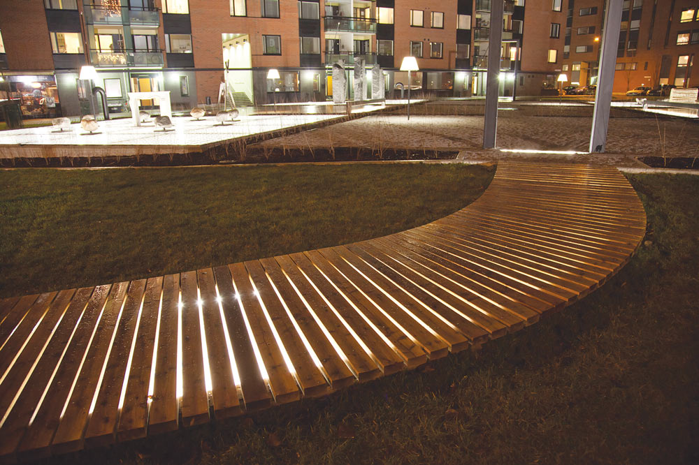 Tapio Wirkkala Park walkway lighting by Meltron